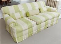 Sale 9090H - Lot 5 - A custom built three seater sofa, Height of back 77cm x Width 192cm x Depth 93cm