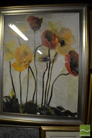Sale 8464 - Lot 2091 - Group of 3 Assorted Artworks including Decorative Print, Original Oil and Inuit Design work