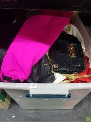 Sale 8582 - Lot 2490 - Tub of Womens & Childrens Clothes, Handbags & Others, etc