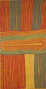 Sale 8743 - Lot 534 - Ronnie Tjampitjinpa (c1943 - ) - Body Design, 1994 183 x 91cm (stretched and ready to hang)