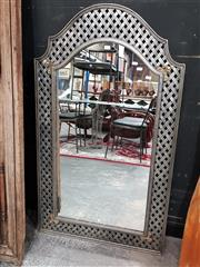 Sale 8769 - Lot 1007 - Wrought Iron Lattice Mirror