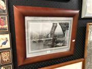 Sale 8816 - Lot 2056 - Print Depicting an Incomplete Harbour Bridge