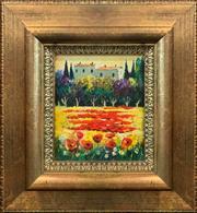 Sale 8878 - Lot 2021 - Artist Unknown - Tuscan Landscape 22 x 18 cm, (46 x 42cm, frame size)