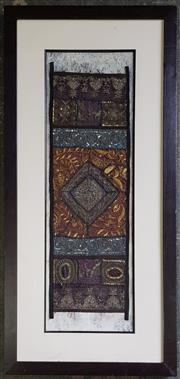 Sale 8971 - Lot 1068 - Vintage Framed Sari (frame size - 117 x 56cm)
