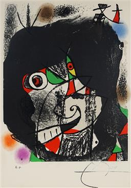Sale 9080A - Lot 5042 - Joan Miro (1893 - 1983) - End of Illusion I 37.5 x 25.5 cm (frame: 67 x 58 x 3 cm)