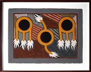 Sale 9011 - Lot 2059 - Natalie Puantulura (1975 - ) - Nguiu, Bathurst Island 77 x 57 cm (frame: 76 x 94 x 4 cm)