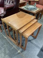 Sale 9002 - Lot 1095 - G-Plan Quadrille Nest of Teak Tables (h:50 x w:53 x d:42cm)