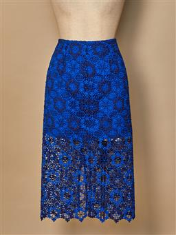 Sale 9093F - Lot 60 - A Blue lace skirt by Sandro, size 1