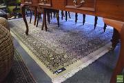 Sale 8390 - Lot 1312 - Large Cream and Black Tone Floor Rug