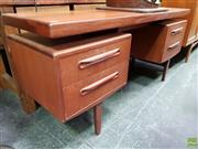 Sale 8625 - Lot 1004 - G-Plan Teak Dressing Table (H: 70 L: 152 W: 46cm)