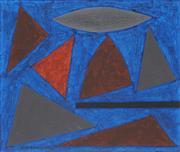 Sale 8755 - Lot 539 - John Coburn (1925 - 2006) - Jazz Series - Study for St. Louis Blues 34 x 40cm
