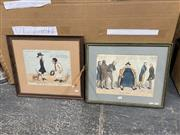 Sale 9041 - Lot 2088 - Early hand-coloured engravings (2) Hoo-loo-choo (AF) & The Tall Person or Hodges Mistake (framed/various sizes)