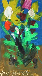 Sale 9042A - Lot 5074 - Pro Hart (1928-2006) - Floral Still Life 16.5 x 9 cm (frame: 38 x 31 x 2 cm)