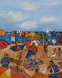 Sale 9161A - Lot 5093 - STANLEY PERL (1942 - ) - Fun in the Sun, IV 51 x 41 cm