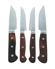 Sale 8705A - Lot 34 - Laguiole Louis Thiers Red Wood Handled 4-Piece Steak Knife Set