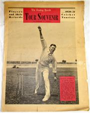 Sale 8460C - Lot 59 - Sunday Herald Sydney Tour Souvenir Supplement October 8, 1950 for 1950–51 Cricket Tour by England. Eight pages. Edge wear to pages o...