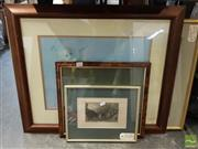 Sale 8483 - Lot 2047 - Group of (5) Assorted Framed Prints, Photographs and a Lithograph