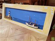 Sale 8480 - Lot 1072 - Timber Framed Ocean 3D Scene