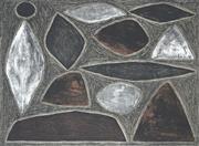 Sale 8755 - Lot 513 - John Coburn (1925 - 2006) - Dark Uluru 32.5 x 45.5cm