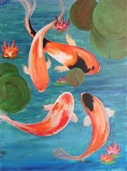 Sale 8888 - Lot 2055 - Greg Lipman (1938 - ) - Koi Pond 122 x 92cm
