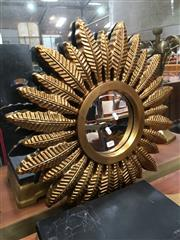 Sale 8859 - Lot 1009 - Gilt Framed Palm Form Mirror