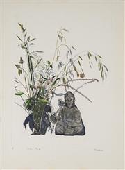 Sale 8896A - Lot 5083 - John Earle (1955- ) - Buddha & Garden Plants 69.5 x 49.5cm (sheet size, unframed )