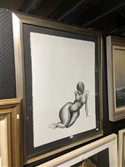 Sale 8878 - Lot 2087 - Sarah Bishop - Reclining Nude 97.5 x 78 cm