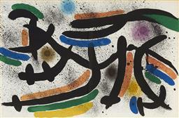 Sale 9081A - Lot 5083 - Joan Miro (1893 - 1983) - Lithographe I, c1972 32 x 48.5 cm (frame: 71 x 88 x 4 cm)