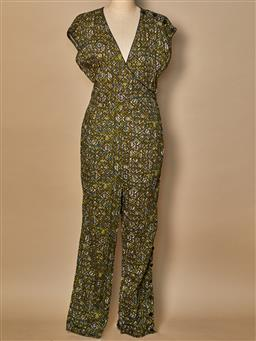 Sale 9093F - Lot 89 - A Fleur Wood patterned jumpsuit, size medium/4