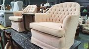 Sale 8390 - Lot 1522 - Pair of Art Deco Tub Chairs