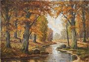 Sale 8491 - Lot 2049 - Erich Kunzel (XX) - Forest in Autumn 70 x 100.5cm