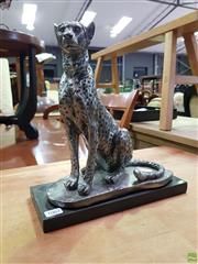 Sale 8611 - Lot 1062 - Seated Leopard Statue