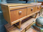 Sale 8625 - Lot 1006 - Elliotts of Newbury Teak Sideboard (H: 70 W: 153 D: 46cm)