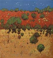 Sale 8693A - Lot 5054 - Clem Millward (1929 - ) - Stars and Everlastings 63 x 58.5cm