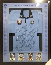 Sale 8733 - Lot 53 - Framed New South Wales State of Origin Jersey