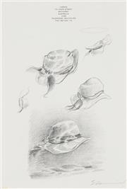 Sale 8781A - Lot 5054 - Tim Storrier (1949 - ) - Hat Studies 29.5 x 20.5cm