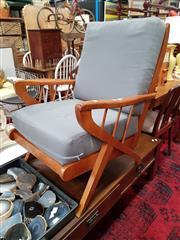 Sale 8822 - Lot 1180 - Vintage Teak Framed Armchair
