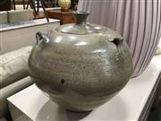 Sale 8851 - Lot 1065 - Large Lidded Pottery Vase