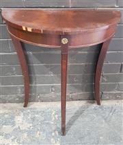 Sale 8959 - Lot 1060 - Demilune Hall Table (H:71 x W:60 x D:30)