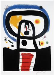 Sale 8985A - Lot 5033 - Joan Miro (1893 - 1983) - Equinox 61 x 47 cm (frame: 113 x 87 x 3 cm)