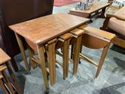 Sale 9002 - Lot 1097 - Nathan Teak Nest of 4 Tables (h:57 x w:67 x d:42cm)