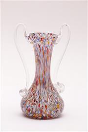 Sale 9018 - Lot 72 - A small twin handled blown art glass vase (H15.5cm)