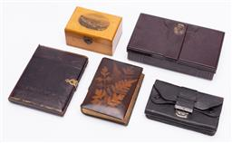 Sale 9190E - Lot 74 - A collection of trinket cases and others including bakelite box, treen box etc