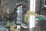 Sale 8308 - Lot 3 - Jade Pendant On Stand