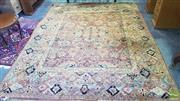 Sale 8361 - Lot 1020 - A Persian hand Knotted Chobi rug on salmon and cream ground, 315 x 240cm