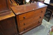 Sale 8500 - Lot 1090 - Late C19th Cedar Chest 3 Drawers with Later Top and on Plinth Base