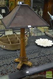 Sale 8545 - Lot 1096 - Timber Base Table Lamp