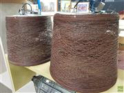 Sale 8637 - Lot 1073 - Pair of Wicker Style Hanging Pendant Lights