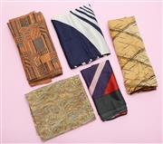 Sale 8661F - Lot 77 - Five assorted handkerchiefs and  scarves, the longest 98cm