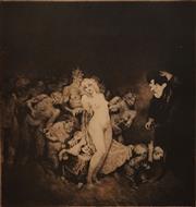 Sale 8696A - Lot 5052 - Norman Lindsay (1879 - 1969) - Adventure 28 x 25cm